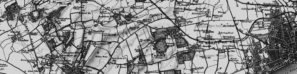Old map of Westwinds in 1895