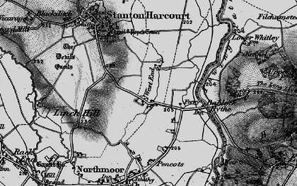 Old map of Bablock Hythe in 1895