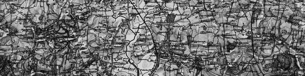 Old map of Wyckham Wood in 1895