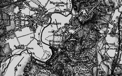 Old map of West End in 1896