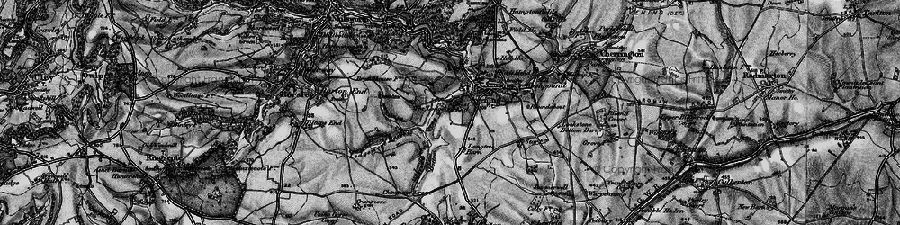 Old map of Westfield Barn in 1897