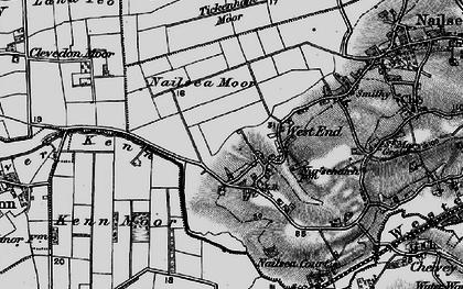Old map of Tickenham Moor in 1898