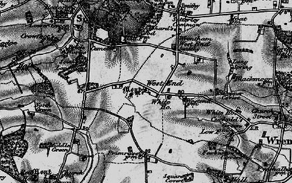 Old map of Wrentham West End in 1898