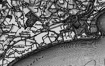 Old map of West End in 1899