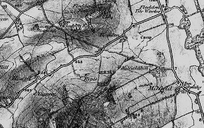 Old map of Whitton Hill in 1897