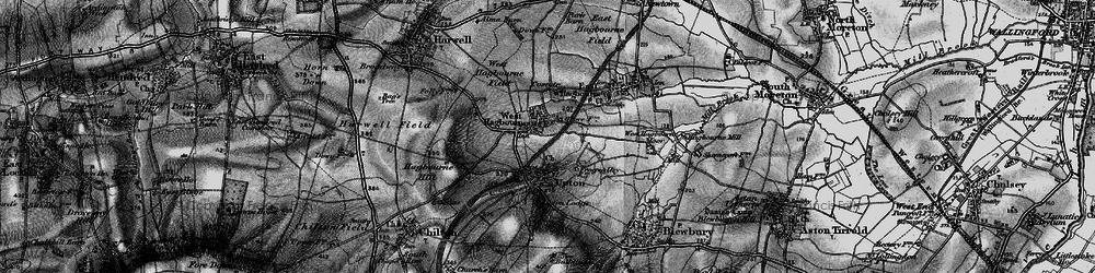 Old map of West Hagbourne in 1895