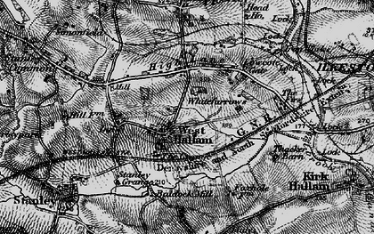 Old map of Whitefurrows in 1895