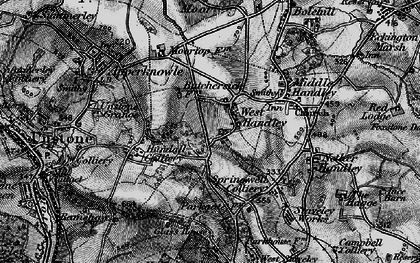 Old map of West Handley in 1896