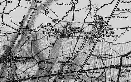 Old map of West Hanney in 1895