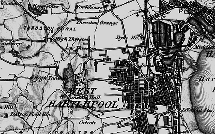 Old map of West Hartlepool in 1898