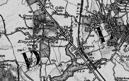 Old map of West Hendon in 1896