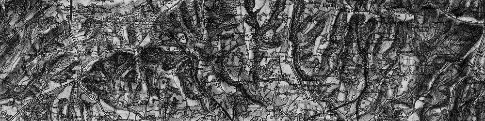 Old map of Ardingly Resr in 1895