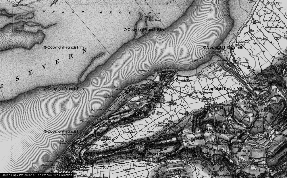 Old Map of West Hill, 1898 in 1898