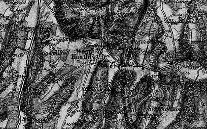 Old map of West Hoathly in 1895