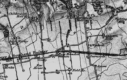 Old map of Tillingham Hall in 1896