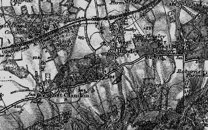 Old map of Woodcote Lodge in 1896