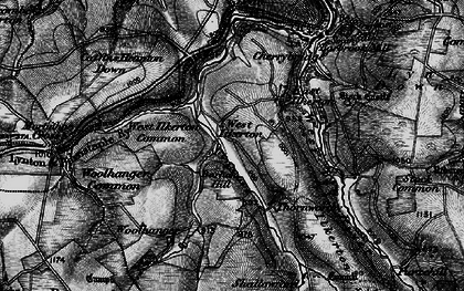 Old map of Barham Hill in 1898