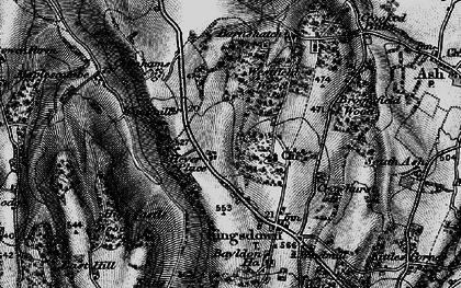 Old map of West Kingsdown in 1895