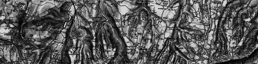 Old map of Brands Hatch Circuit in 1895