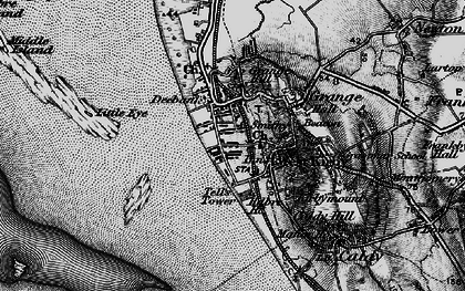 Old map of Lime Wharf in 1896