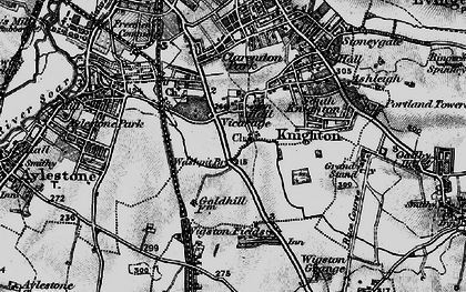 Old map of West Knighton in 1899