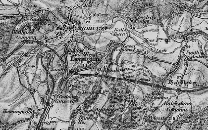 Old map of West Lavington in 1895