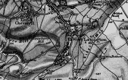 Old map of West Lavington in 1898