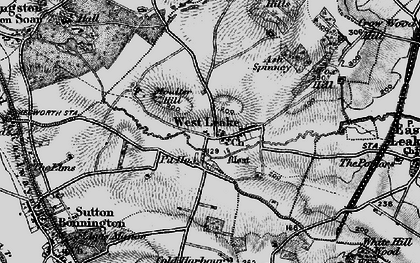 Old map of Ash Spinney in 1899
