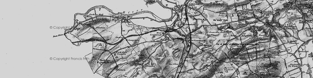 Old map of Willow Burn in 1897
