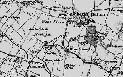 Old map of Lilling Wood in 1898