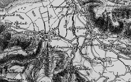 Old map of West Luccombe in 1898