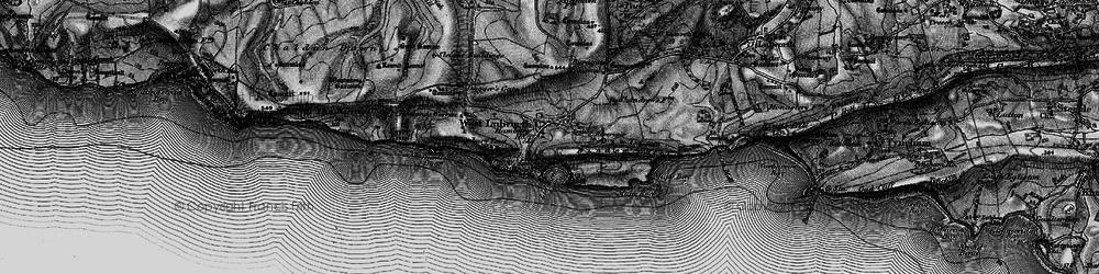 Old map of West Lulworth in 1897