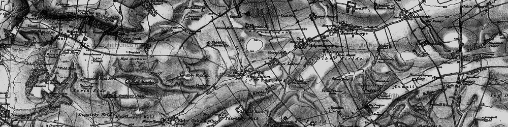 Old map of Whin Moor in 1898