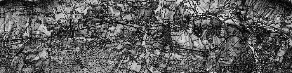 Old map of West Malling in 1895