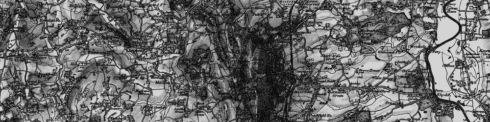 Old map of West Malvern in 1898
