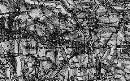 Old map of West Monkton in 1898