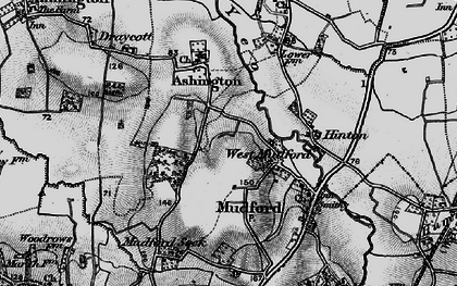 Old map of West Mudford in 1898