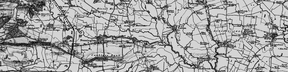 Old map of West Ness in 1898