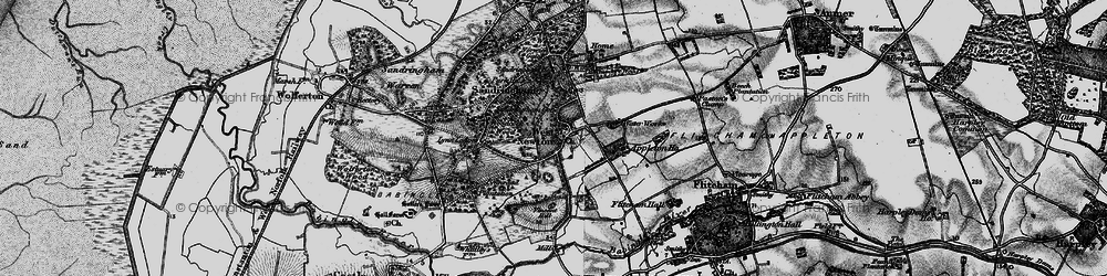 Old map of Woodcock Wood in 1893