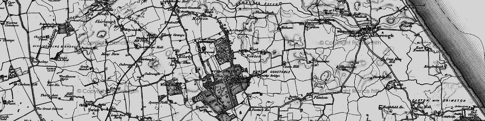 Old map of West Newton Belts in 1897