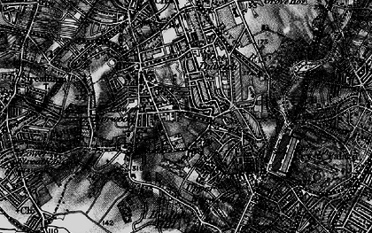 Old map of West Norwood in 1895