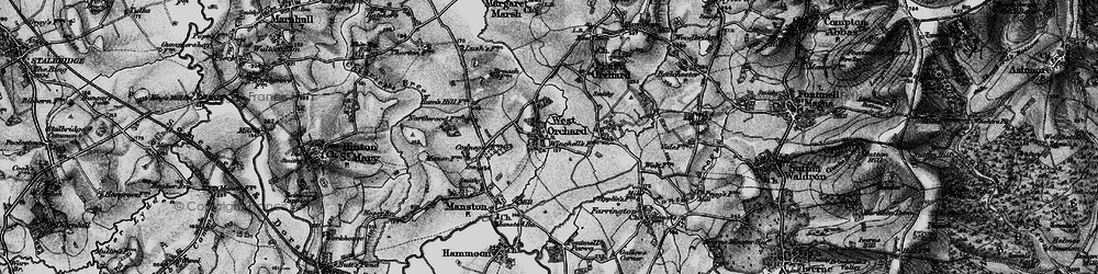 Old map of West Orchard in 1898
