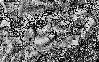 Old map of West Overton in 1898
