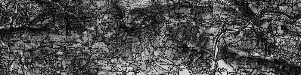 Old map of West Peckham in 1895
