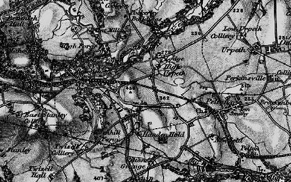 Old map of West Pelton in 1898