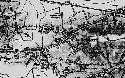 Old map of West Pennard in 1898