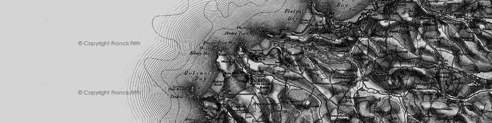 Old map of West Pentire in 1895