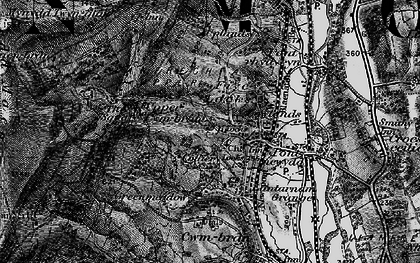 Old map of West Pontnewydd in 1897