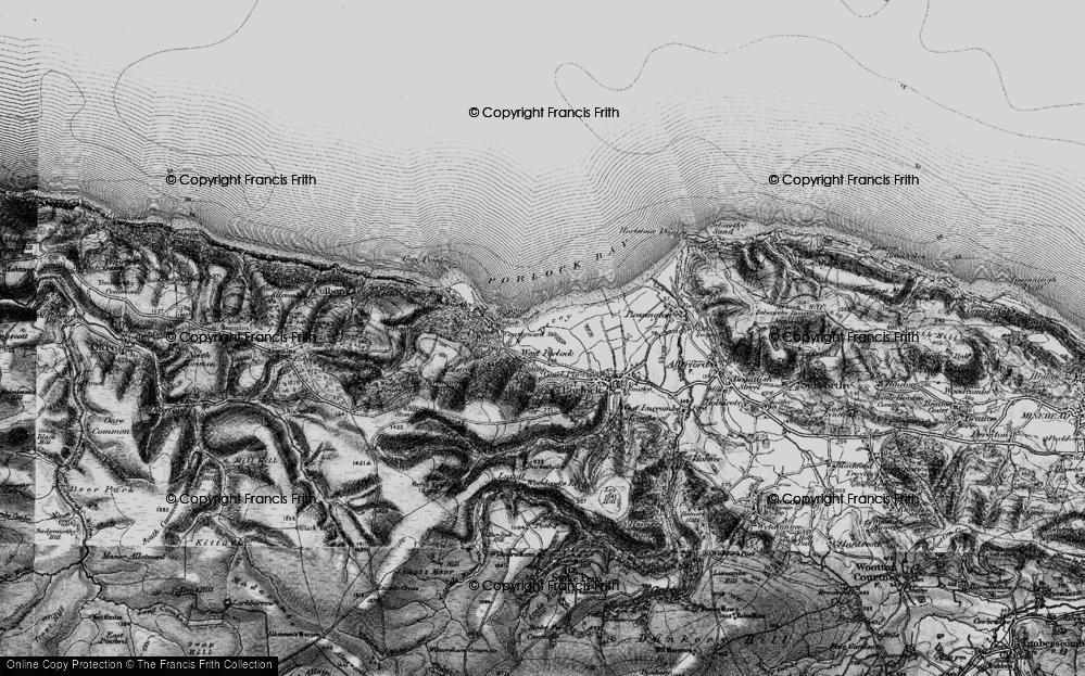 Old Map of West Porlock, 1898 in 1898