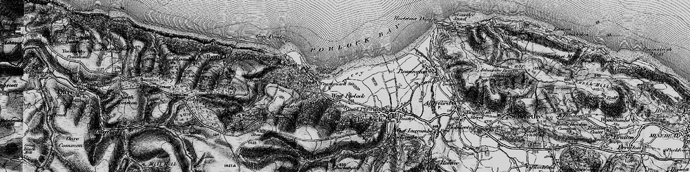 Old map of West Porlock in 1898